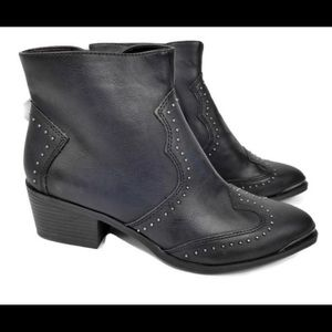 Studded Western Booties